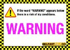 Cold Sensitive Signs - Ice Warning Sign